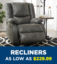 Recliners as low as $229.99
